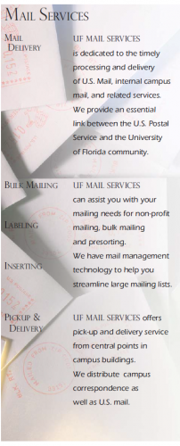 UF Mail and Documents Brochure