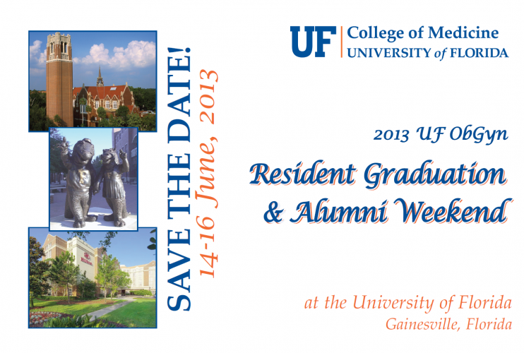 Resident Graduation and Alumni Post Card Front